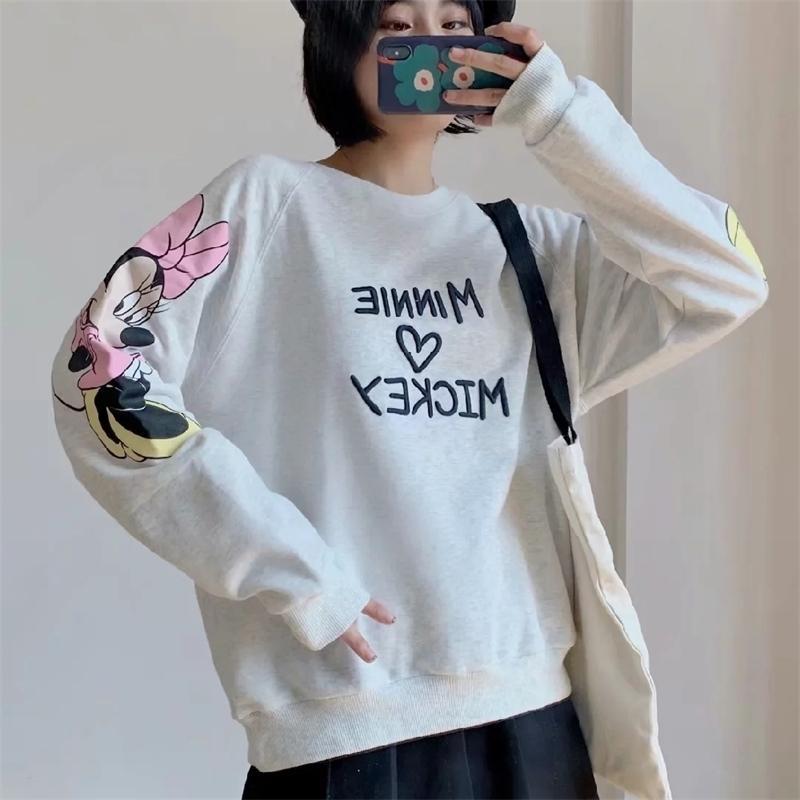 Ropa de mujer Sudadera suave caliente de dibujos animados de dibujos animados femenino abrigo top otoño invierno suelto jersey streetwear sudadera y200706