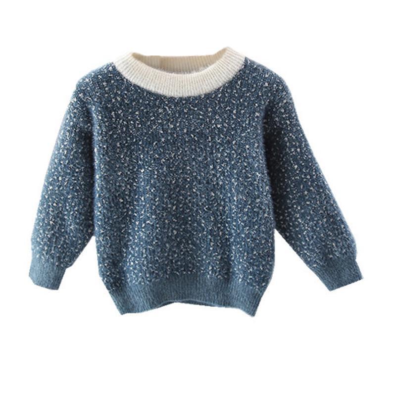 Baby Girls Suéter Edad 1 2 3 4 5 6 años Otoño Suéter infantil Mohair Dot Kids Suéteres Niños Niños Ropa de Navidad 210202