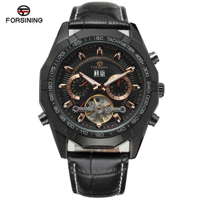 Saatı Forsiging Tourbillon Otomatik Mekanik Erkekler Kol Saati Spor Erkek Saat Top Altın Klasik Adam İzle 340