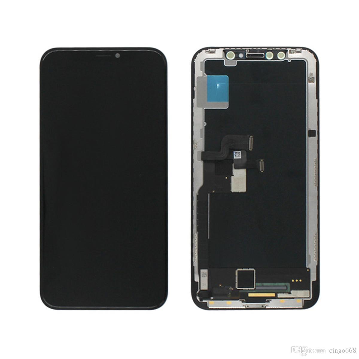 Handy-Zubehör für iPhone x LCD, Anzeige für iPhone x, Bildschirm für iPhone x Montage Freies Verschiffen