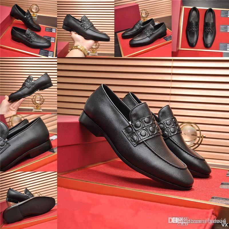 MM Hommes Cuir Chaussure En Cuir Véritable Cuir Oxford Chaussures pour hommes Designers de Prestige Robe Chaussures à lacets Chaussures de mariage Chaussures de mariage en cuir Brogues 37-45 33