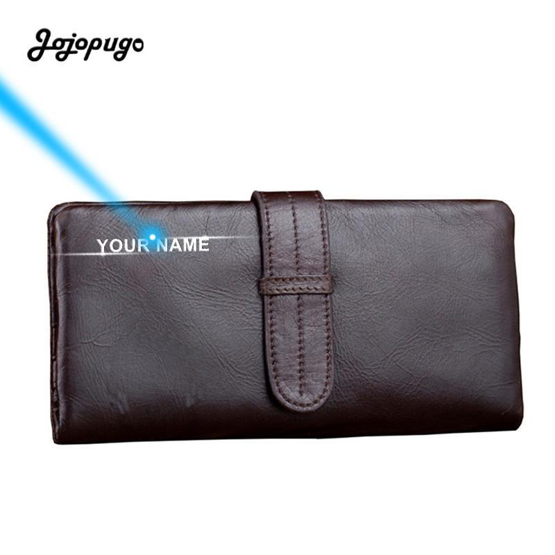 2021 Newest Men's Phone Clutch Genuine Cow Leather Purses Male Long Wallet for Coins Laser Engraving Billetera Hombre