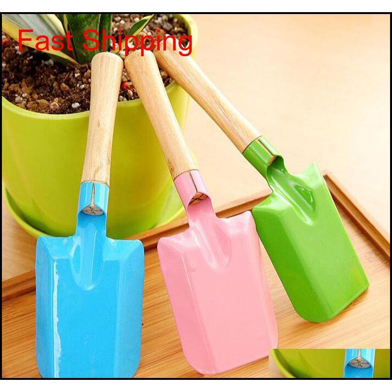Mini Gardening Shovel Colorful Metal Small Shovel Garden Spade Hardware Tools Digging Garden Tools Kids qylfGR toys2010