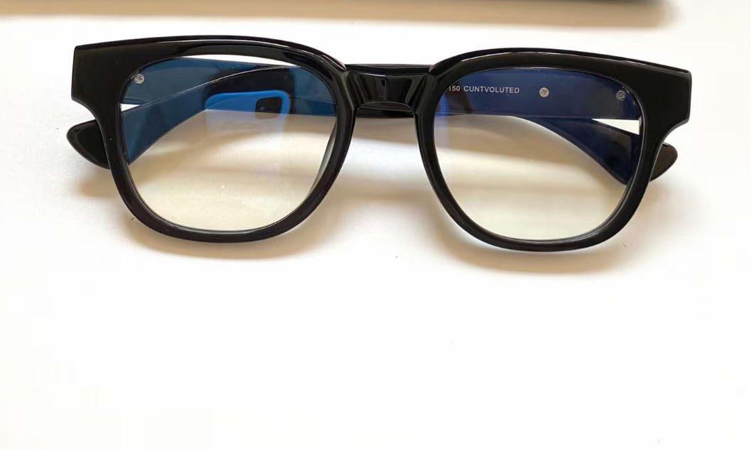 Mens Square Brillen Brille Gold Schwarz Rahmen Lear 50mm Herren Mode Sonnenbrille Frames Eyewear Gläser mit Kasten