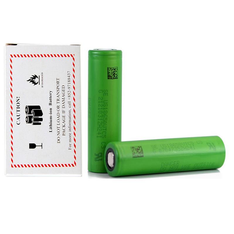 Alta Qualidade VTC5 IMR 18650 Bateria Green 2600mAh 30A 3.7V Alta Dreno Recarregável Lithium Vape Mod Bateria Para Sony Instock