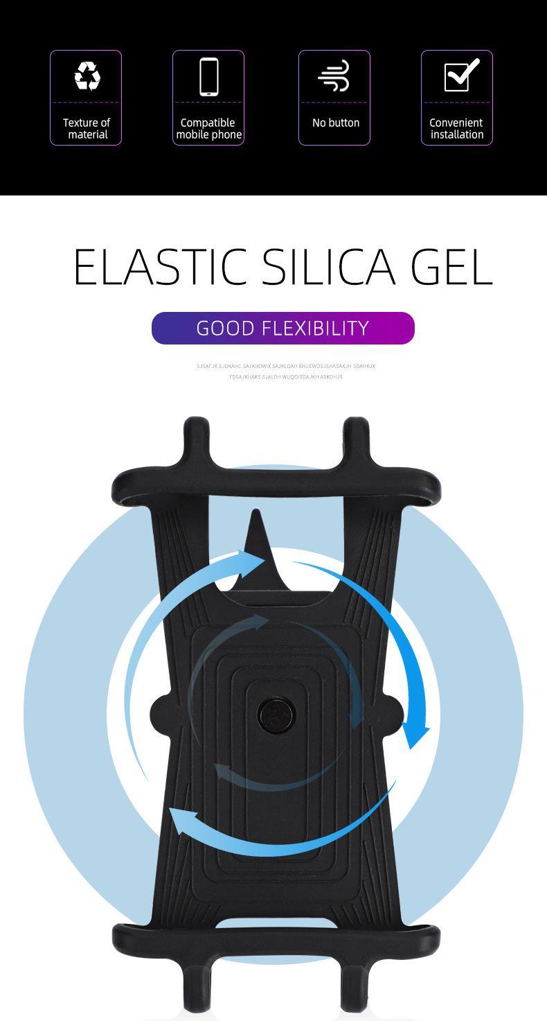 Suporte ajustável do telefone da bicicleta para o iPhone Samsung Universal Bike Handlebar Glip Stand GPS Mount Suport