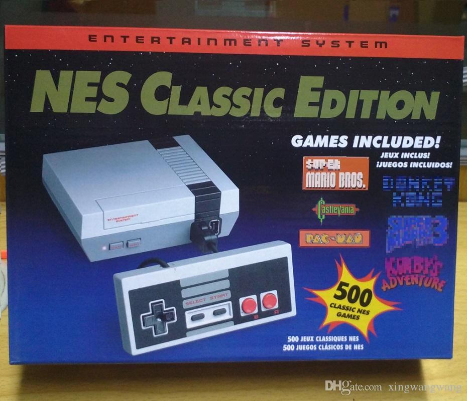 الكلاسيكية لعبة التلفزيون تلفزيون الفيديو المحمولة نظام الترفيه 500 الألعاب الكلاسيكية لطراز الطبعة الجديدة NES ميني لوحات المفاتيح