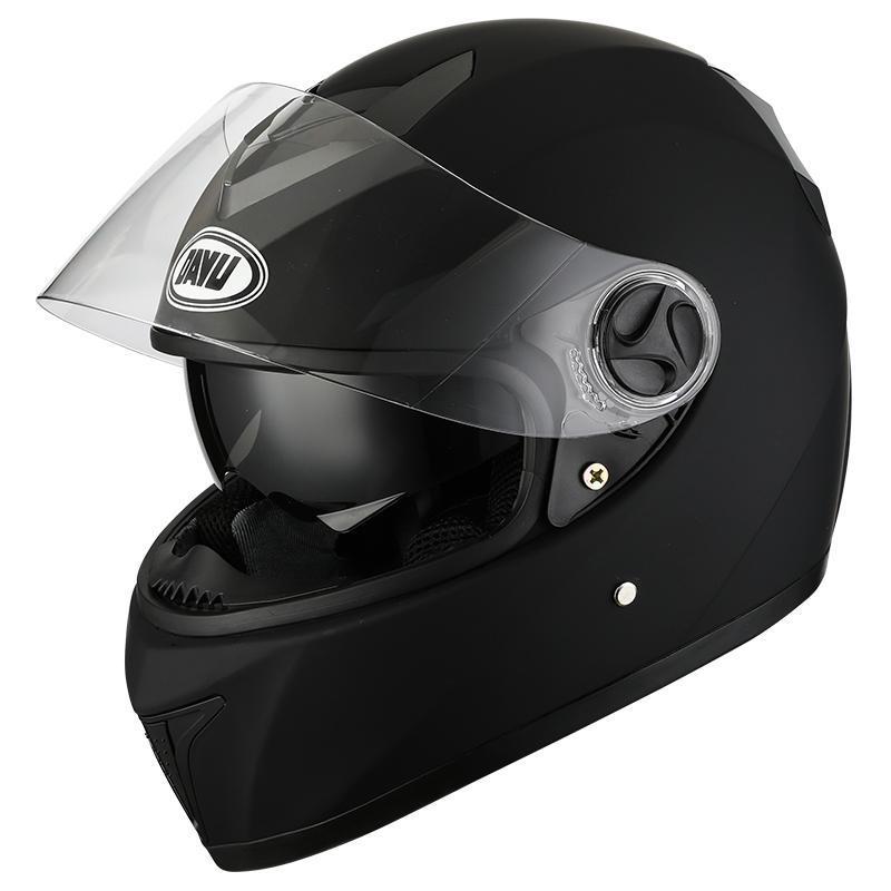Motorradhelme 2021 Mattschwarz Full Faces Helm mit Dual Linsen Motorrad Motocross Dot für Mann Erwachsene
