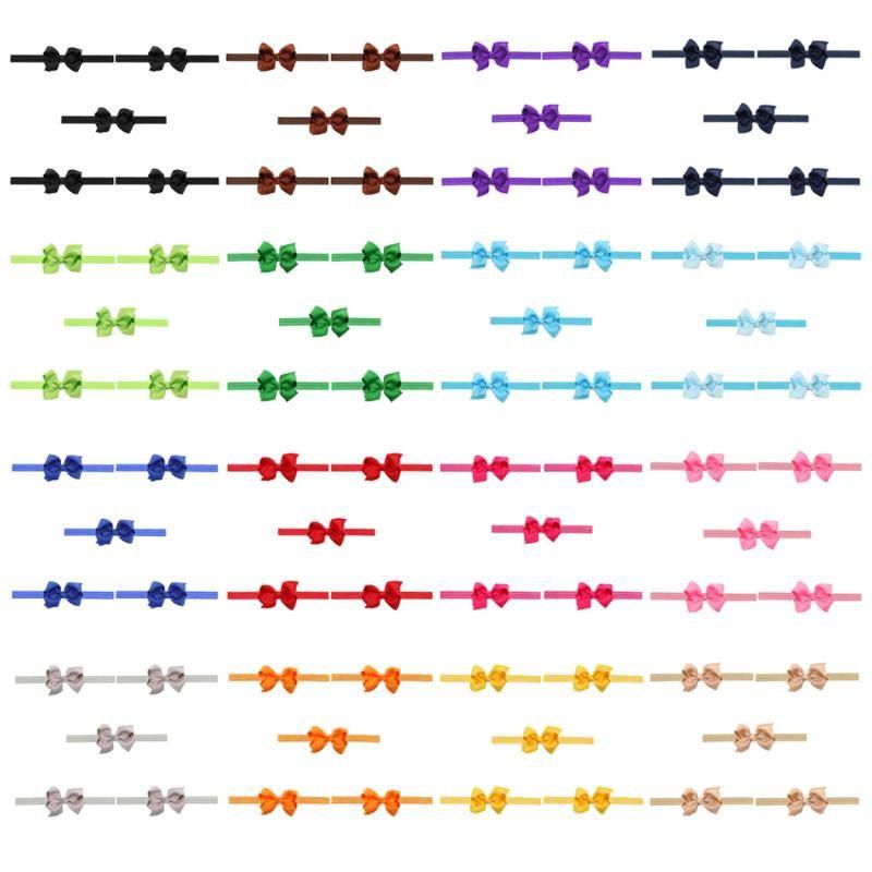5 pezzi per bambini Bow per bambini Band elastico elasticizzato fascia per neonata per neonati accessorio per capelli hatwo1020
