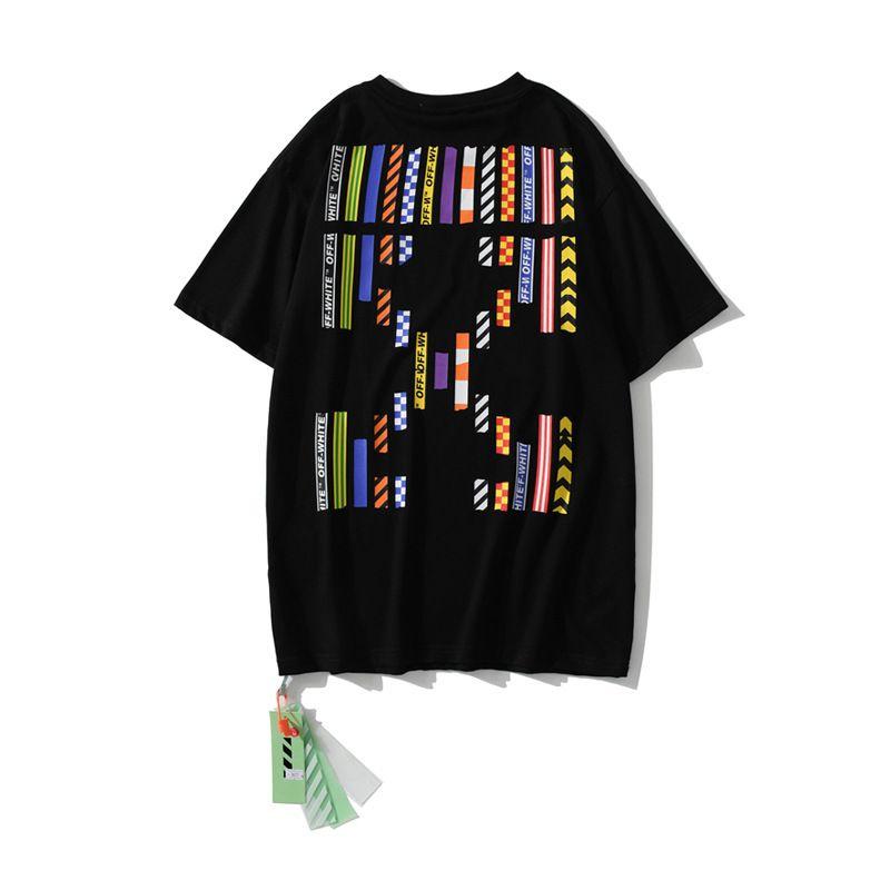 20SS Moda Singapura Exclusive Color Seta Etiqueta Masculina e Manga Curta T-shirt