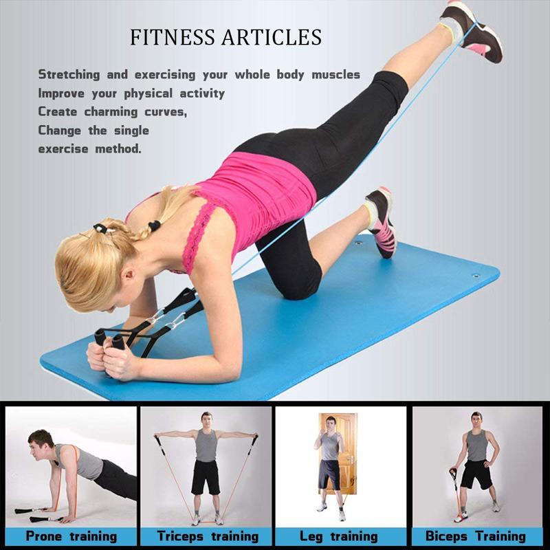 2020 17 pcs faixas de resistência definir expansor ioga exercício fitness tubos de borracha banda treinamento em casa ginásios ginásios treino elástico puxar corda
