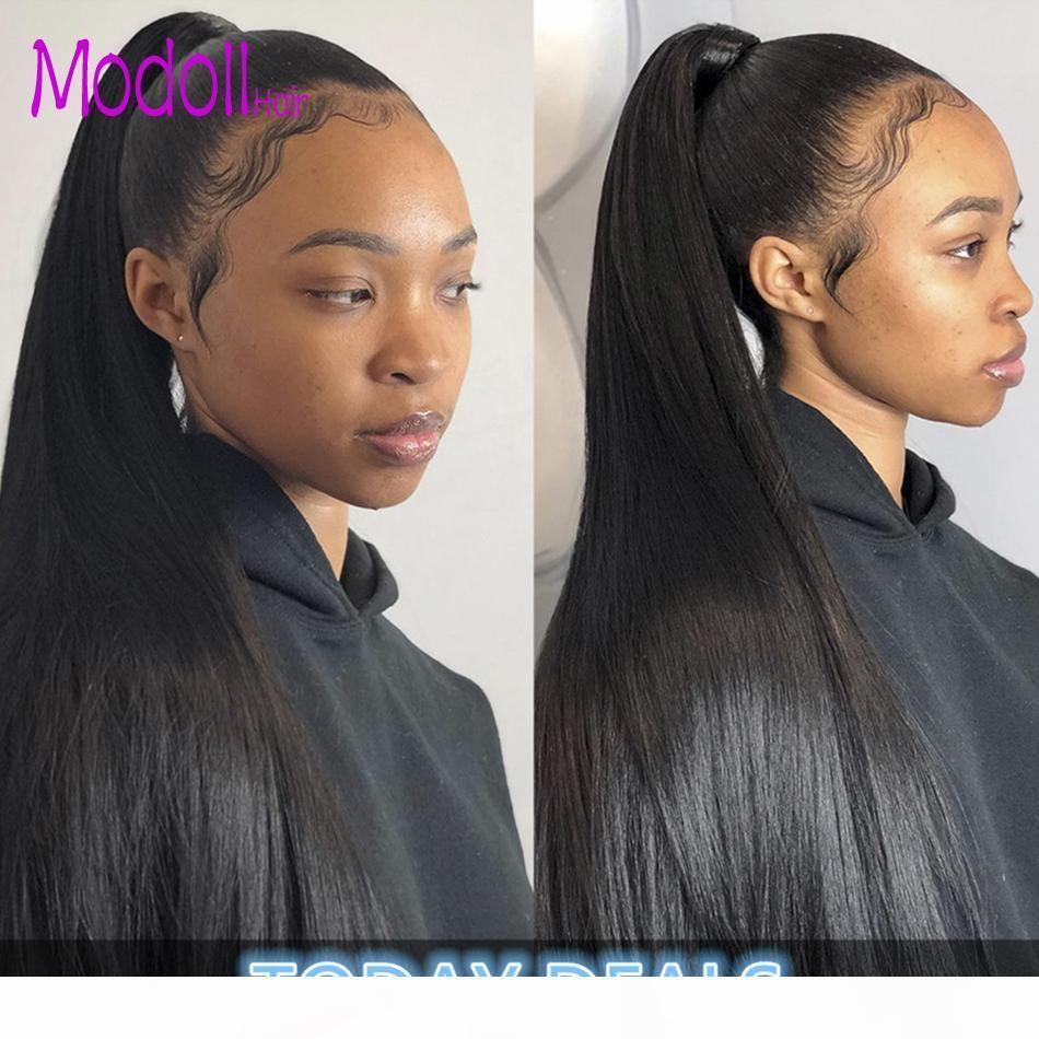 Индийские прямые человеческие волосы сплетенные расслоения с закрытием Натуральный цвет 3 4 пучка с кружевной закрытием Сырой девственницы Индийская REMY