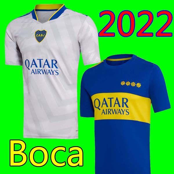 21 22 بوكا جونيورز كرة القدم جيرسي 2021 2022 كارليتوس مارادونا تيفيز دي روسي لكرة القدم قميص الرجال + أطفال مجموعات مجموعات قمصان الثالثة الثالثة