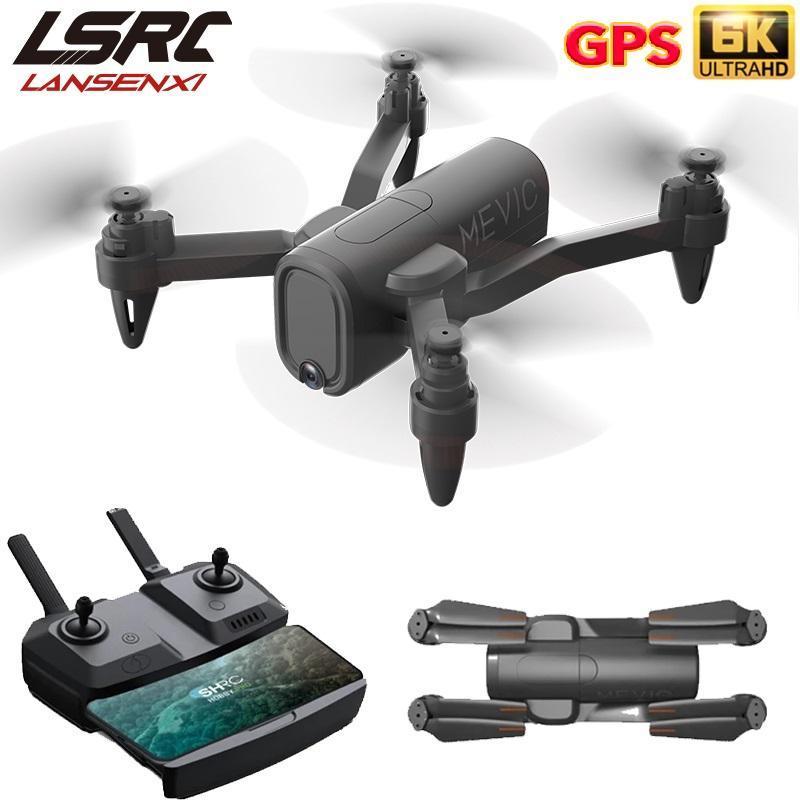 LSRC 2021 Nouveau drone GPS H6 4K HD Caméra ESC CAMERA 5G WIFI FPV Hauteur fixe QUADCOPTER RC DRON JOUET POUR LES ENFANTS