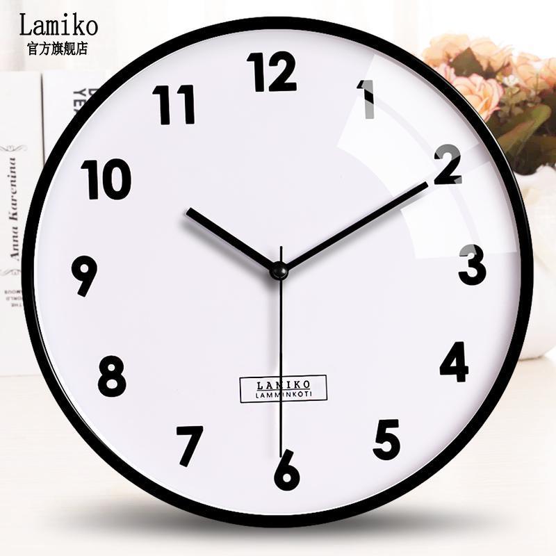 Relógios de parede Modern Design Clock Nordic Relógio Redondo Redondo Relógio Minimalista Wandklok Produtos Domésticos YY60DC