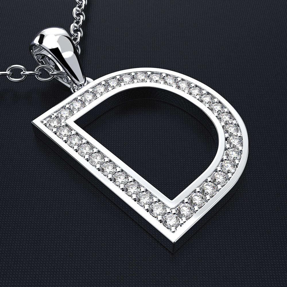 HBP luxury new Korean version simple clavicle chain creative D series fashion versatile Pendant letter necklace straight