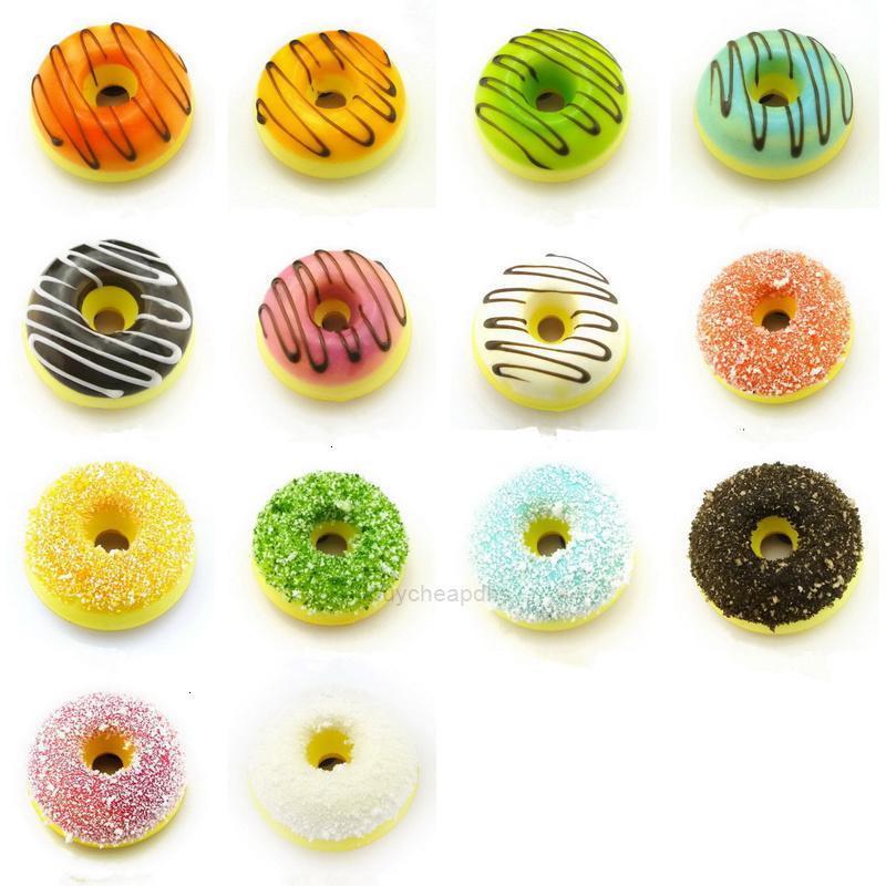 Messaggio 2 pz Lotto carino Dolce Dolce Ciambella Donut Frigorifero Magnete Magnete Souvenirsimulation Magnete alimento per bambini DecoratXH66A7