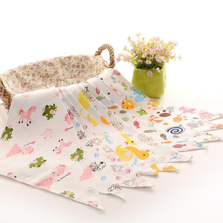 Speichel-Dreieck-Baby-Doppelknopf Neugeborenen Kinderschal-Lätzchen