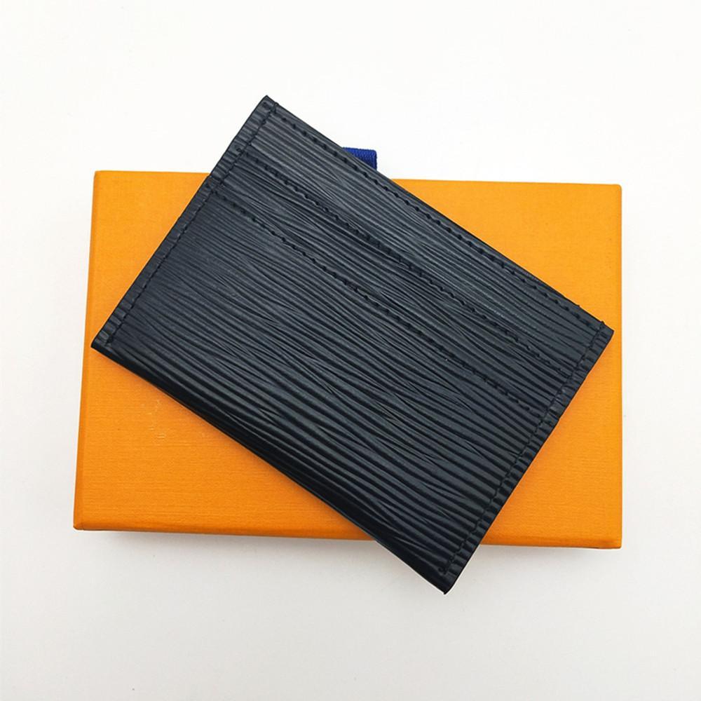 2021 Классические Мужчины Женщины Мини Маленький кошелек Высокое Качество Держатель кредитной карты Slim Bank Card Держатель с Box Total 5 Слот для карт