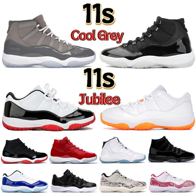 Novos 11 11s 25º Aniversário Basketball Shoes Homens Mulheres Sneakers com Keychain Tag Concord 45 23 Gama Blue Criado 2019 Treinadores