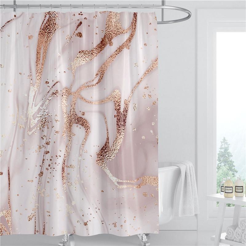 Мраморный шаблон душевой занавеской 180см полиэстер ткань водонепроницаемая ванная комната украшения 3d напечатанная ванная комната занавес с кольцом