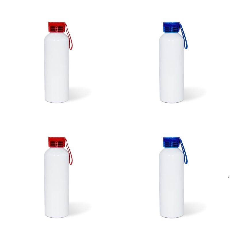 Sublimation Blank Tto Motion Kettle 750ML Boy Girls Colour Silicone Transparent Cover Aluminum Water Bottles DIY sea shipping HWD4976