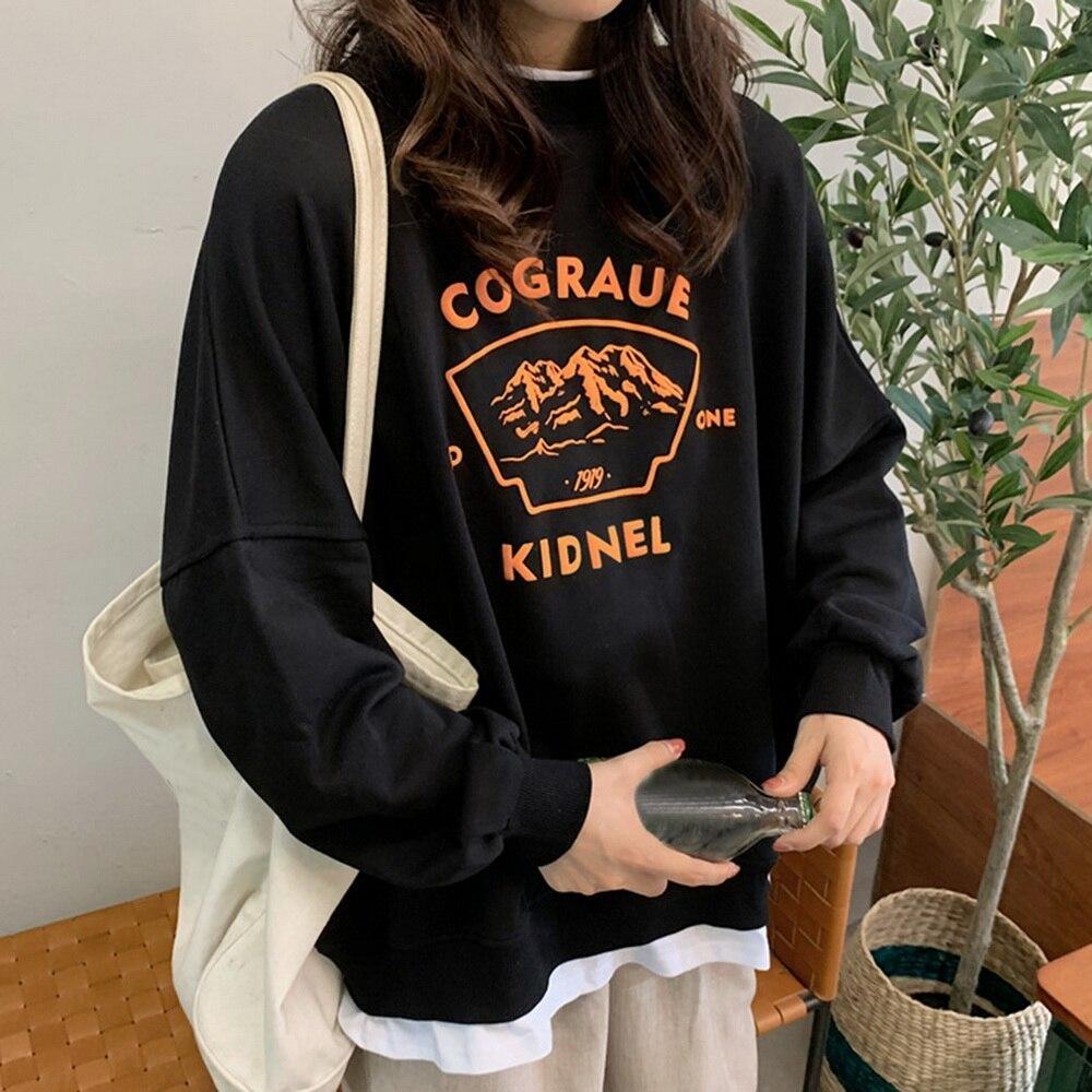 Nuevas mujeres ocio ocio pantalones de gran tamaño estilo coreano estilo cálido kawaii mujer suelta streetwear sudaderas sudaderas sudaderas