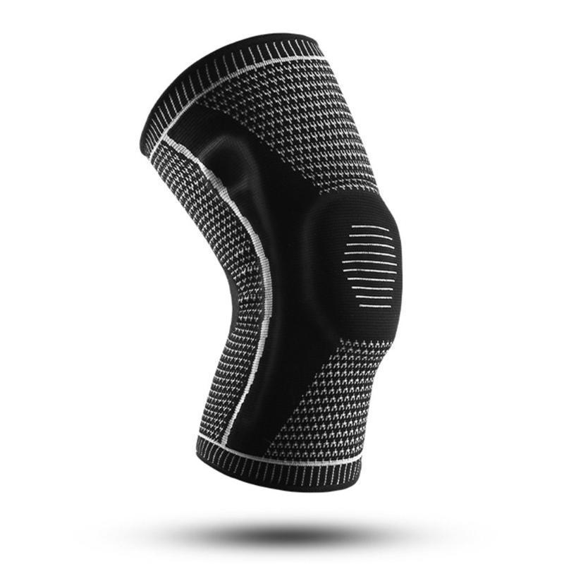1 stücke Knieunterstützung Männer Frauen Kniestütze mit seitlichen Stabilisatoren Silikonauflage Sporthülsen für Gewichtheben Powerlifting