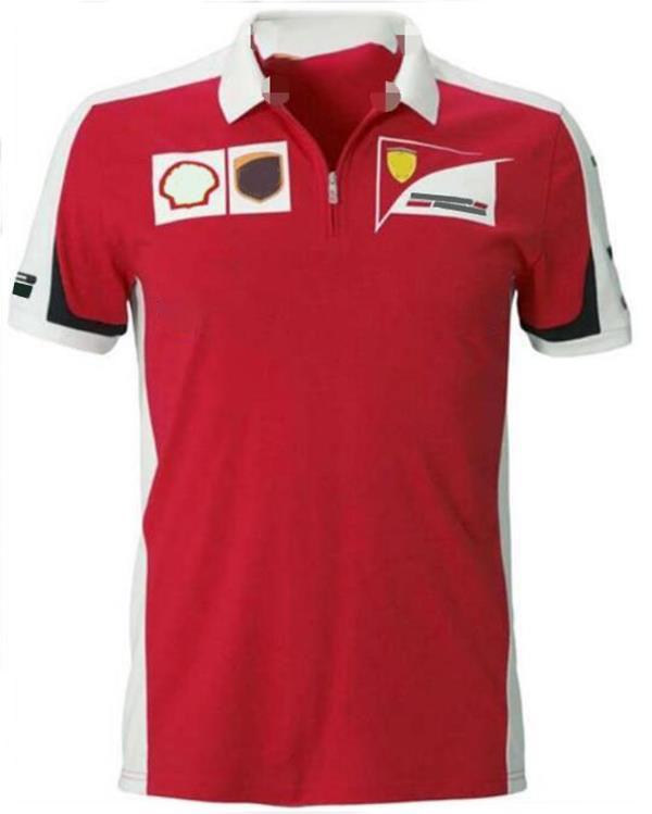 Formula 1 Motosiklet Profesyonel Spor Polyester Hızlı Kuruyan Yarış Takım Elbise T-shirt Yaz Yaka Polo Gömlek Lokomotif Hızlı Kuruyan Short-SL