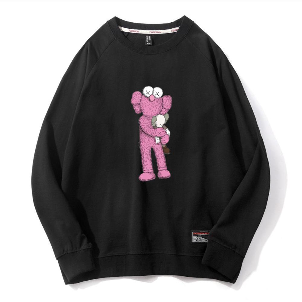 Hoodie Seesame Street Розовая кукла круглые шеи свитер весна осень тонкий свободный приборной пуловер с длинным рукавом влюбленные «Лучшие мужские и женские»