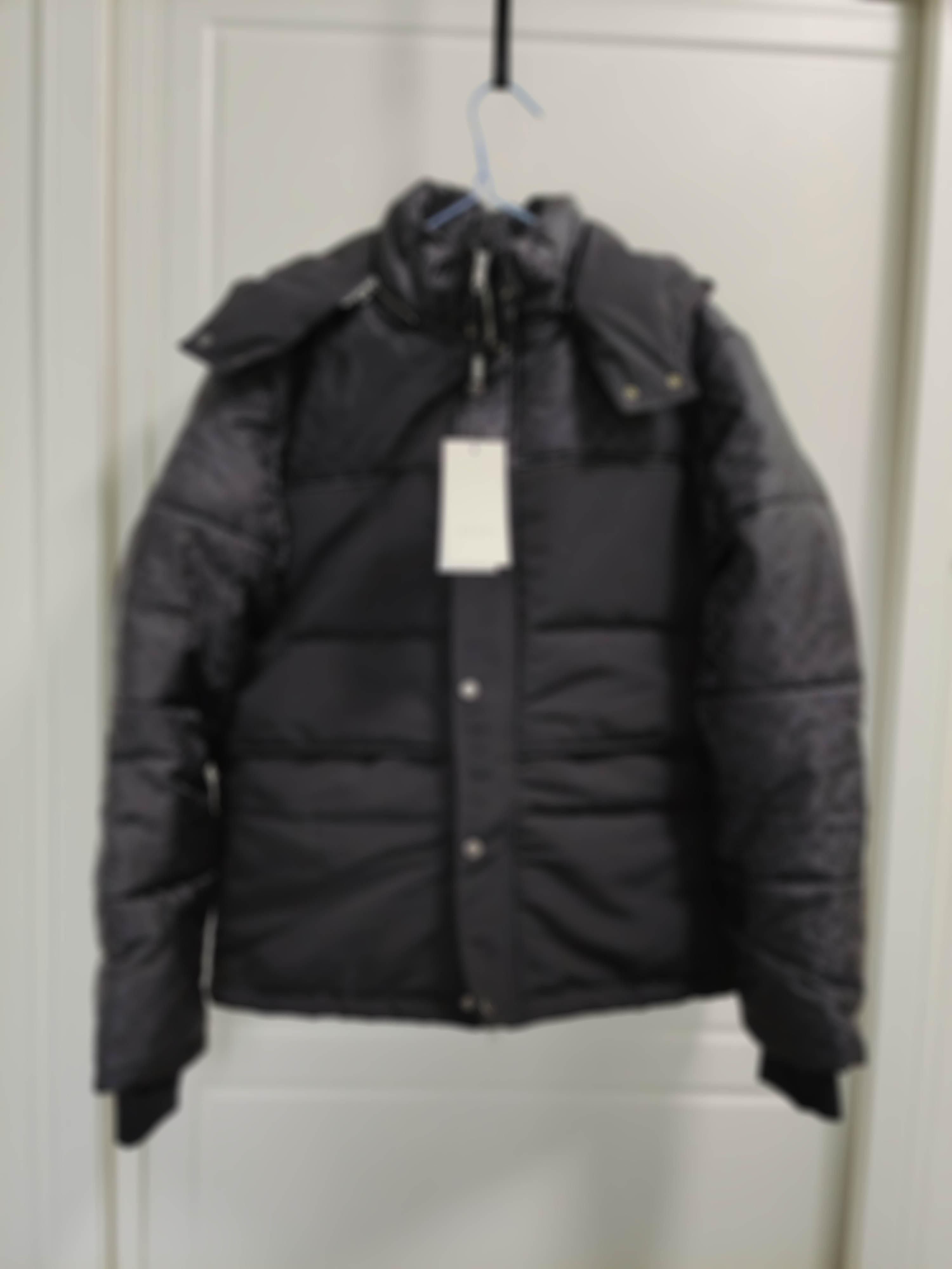 Homme Designers Vêtements Coton manteau Sweat à capuche Jacquard Tissu de poche de poche Mens d'hiver Manteaux Hommes Designers Sweaters Hommes Vêtements Noir