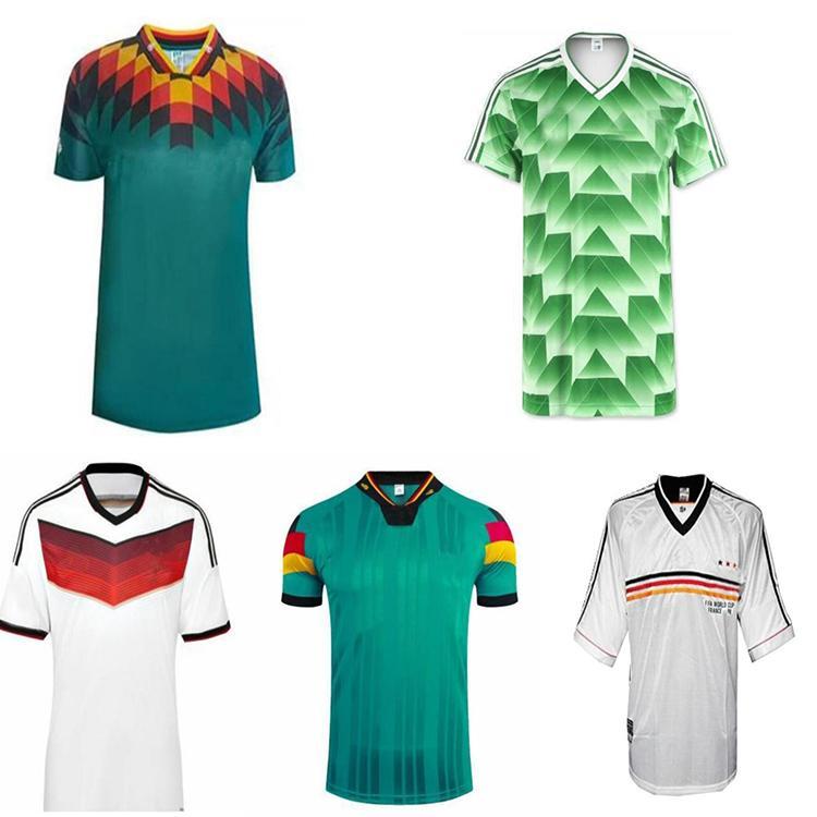Quente Dinheiro Kalkbrenner Matthäus Klinsmann Muller Ballack Moller Retro Soccer Jerseys 90 96 98 2006 2014 Camisa de Futebol Retro Vintage Clássico