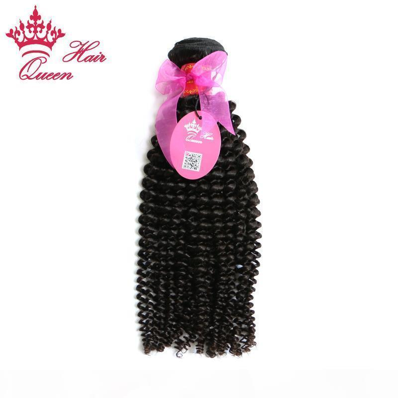 Queen Hair 8-30inch Best Quality Factory Price Natural Brazilian virgin Cuticle hair weaving weft kinky curl curly human hair