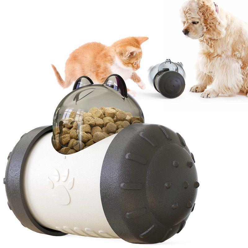 الكلاب القطط الغذاء تسرب بطيئة المغذية سوينغ الدب شكل الكلب لعبة لغز IQ التفاعلية علاج موزع الحيوانات الأليفة مطاردة الكرة