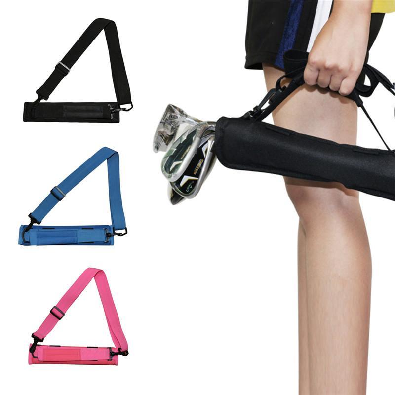 Pesado de malha de malha nylon golf club saco portador driving range saco de viagem para homens mulheres crianças l0302