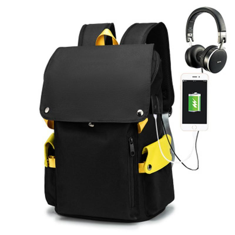 Backpack Anti-Theft Men And Women Student Schoolbag Oxford Cloth Wear-Resistant Men's Bag 15.6-Inch Computer