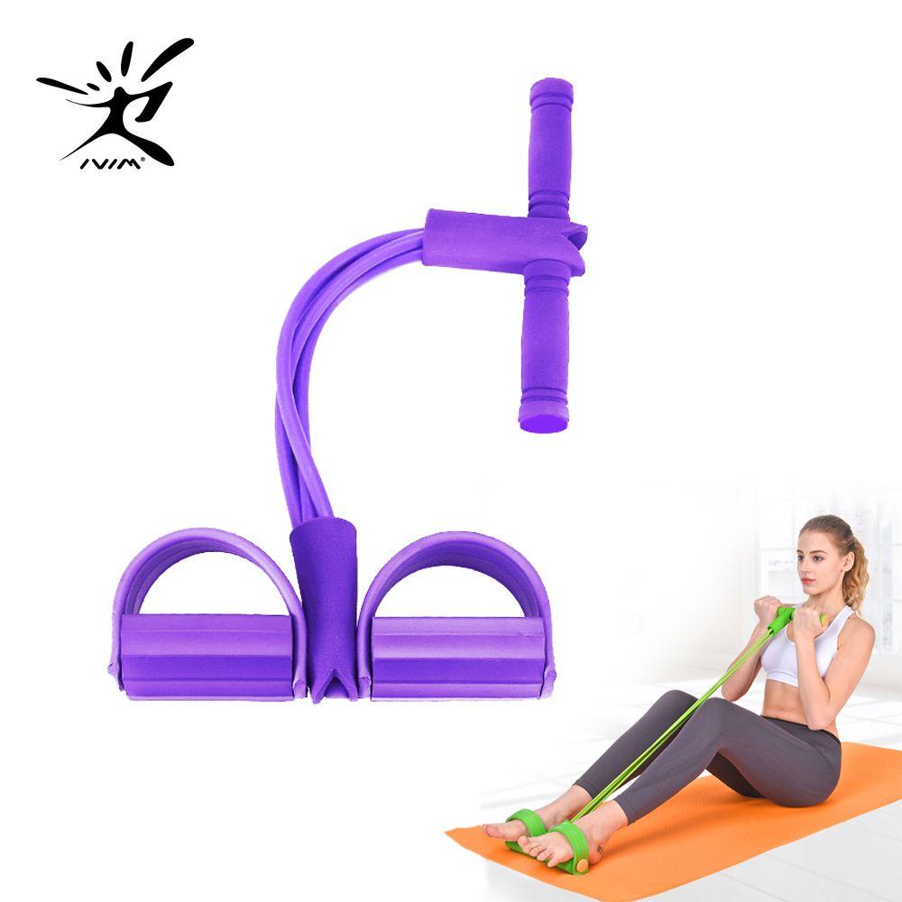 2020 Hot Fitness Gum 4 Bandas de Resistência de Tubo de Tubo Exercício de Pedal de Látex Sit-up Puxe Rope Expanquidor Elástico Bandas Yoga Equipamento Pilates Workout