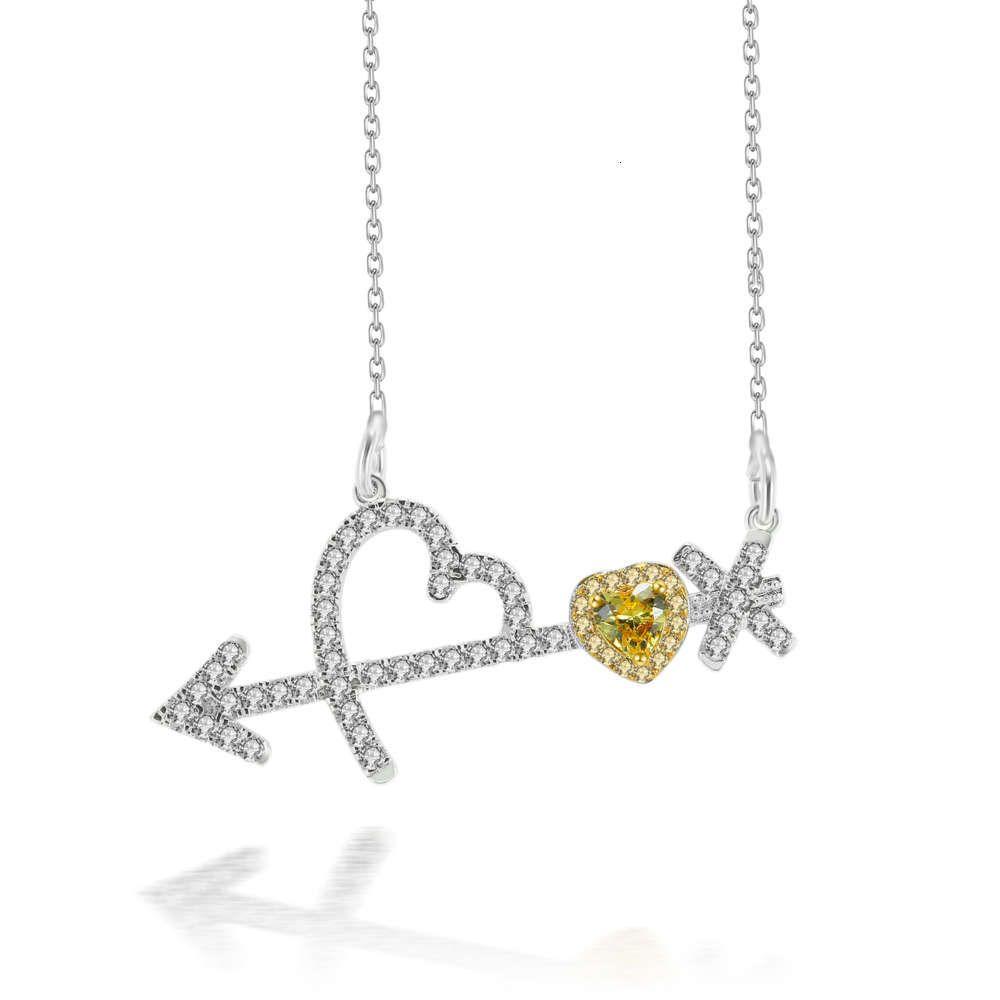 HBP Fashion Simple Style Poesy Pendant, arrow Dios amor, collar de diamantes, joyería de oro de Japón y Corea del Sur