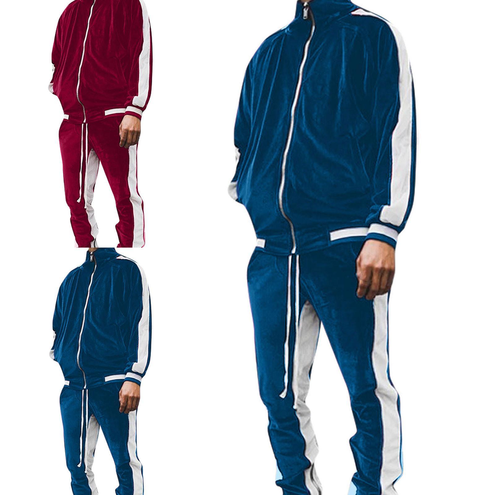 Gold Training Anzug Set Fision Herfst SPORT Pack Herren Plus Phiolen Dicke Pullover + Broek Warm Sweatshirt
