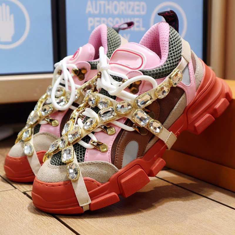 Yürüyüş Ayakkabıları Flashtrek Serisi Spor Ayakkabı 2021 Yeni Renk Varış Moda Sneakers Elmas Üst Erkek Sneakers Kaymaz Tek En Kaliteli