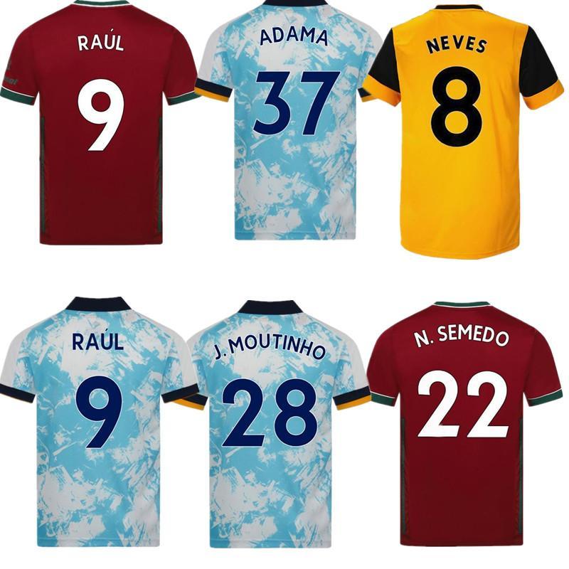 2021 2020 ذئاب كرة القدم جيرسي نيفيس راؤول فلبيو سيلفا أداما الرجال الذئاب المنزل كرة القدم جيرسي مجموعة