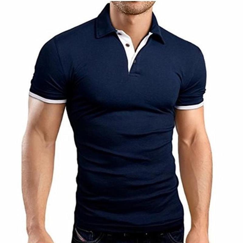 MRMT 2021 Brand Estate Nuovo Risvolto da uomo Casual Stitching a maniche corte per maschio T-shirt T-shirt Top Pullover