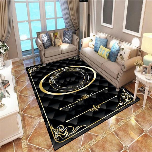 European Classical Luxurys Art Carpet For Living Room Bedroom Anti-Slip Floor Mat Fashion Kitchen Carpet Area Rugs
