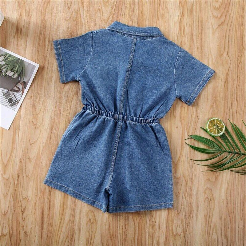 1-4Year baby sommer kleidung baby girl stromper kid kurze overkind kleinkind solide blaue Denim outfit mädchen einteiliger spielsuit