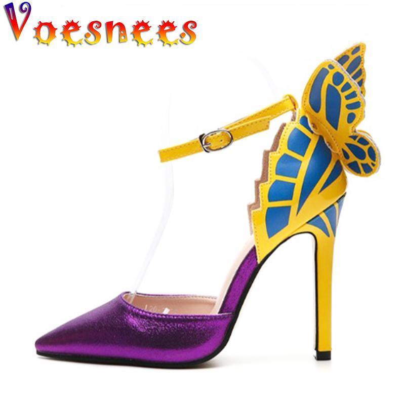 Voesnees 2021 Популярные женские Обувь Новые Смешанные Цвета Направляющие Ножные Сандалии Тонкие каблуки Высокие каблуки 11,5 см Женская Модель Подиума Обувь