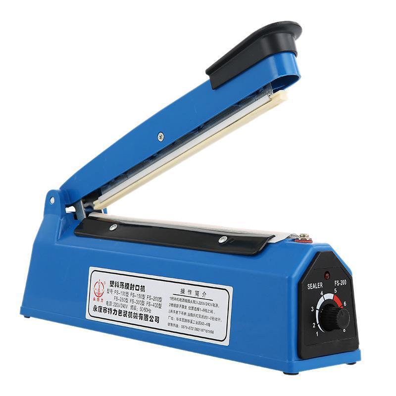 Vakuum-Lebensmittel-Dichtungsmaschine 220V 8-Zoll-Impuls-Sealer-Wärme-Küchentasche Verpackungswerkzeuge EU-Stecker