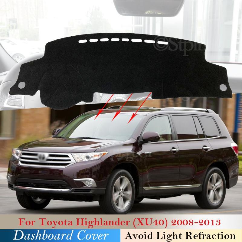 Couvercle de tableau de bord Coussin de protection pour Toyota Highlander XU40 Kluger 2008 ~ 2013 Accessoires de voiture Dash Board Tapis de pare-soleil 2011 2012