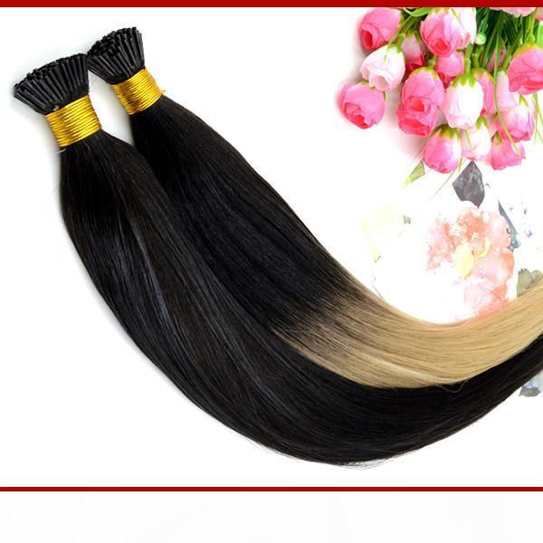 """XCsunny Fusion Hair Extensions Ombre Keratin-Erweiterungen I Tipp 18 """"20"""" T-Tipp Ombre Hair Extensions1G S 100g Indischer Remy Mensch"""