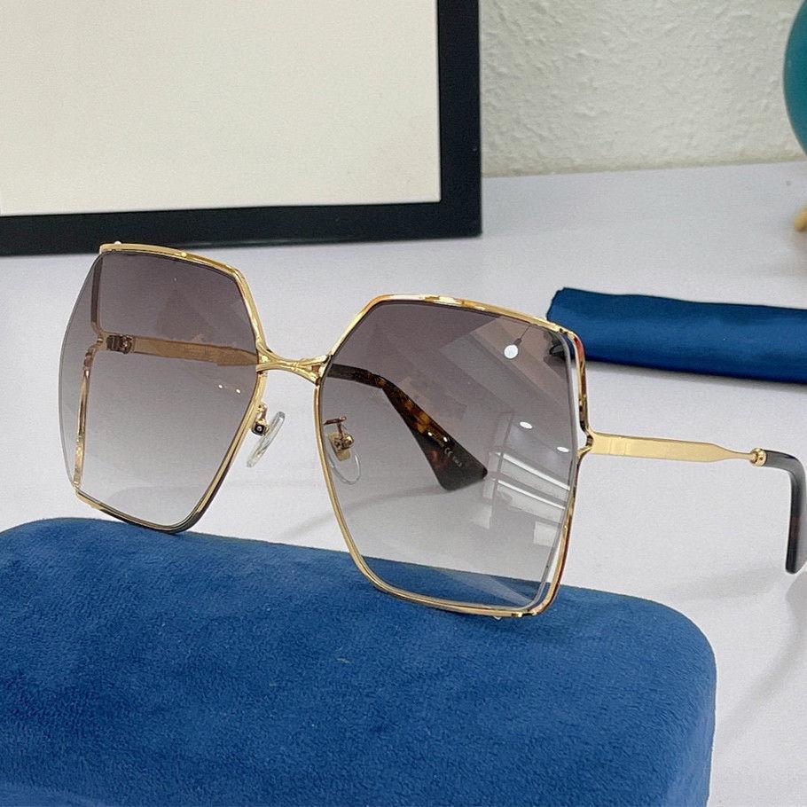 النظارات الشمسية للنساء الأزياء الصيفية الكلاسيكية 0817 نمط المعادن ولوح الإطار نظارات العين أعلى جودة uv حماية عدسة 0817S