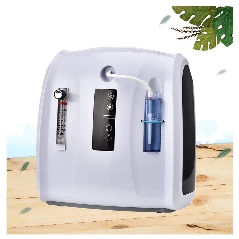 Concentrateur d'oxygène portatif de l'air de ménage ECONIQUE 30% -90% O2 Réglable 1-6L / MIN CE Approuvable machine amovible 110V 220V avec débitmètre